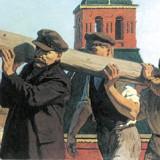 Ленин с бревном
