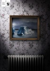 Рекламный креатив от Всемирного фонда дикой природы (WWF). Айсберг