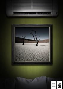 Рекламный креатив от Всемирного фонда дикой природы (WWF). Секвойя