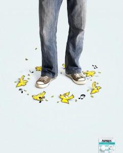 Креативное решение рекламы Аспирина: «Желтые канарейки»